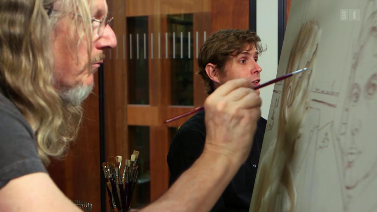Fälschen verbindet: Wolfgang Beltracchi malt Daniel Kehlmann