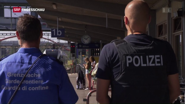 Video «Illegale Grenzübertritte von der Schweiz nach Deutschland nehmen zu» abspielen
