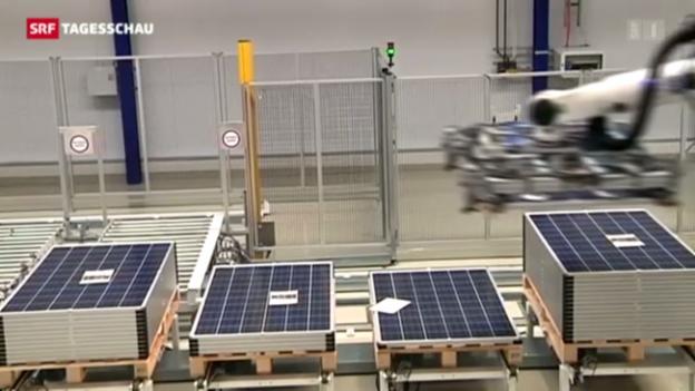 Video «Solarpanels aus China unerwünscht» abspielen