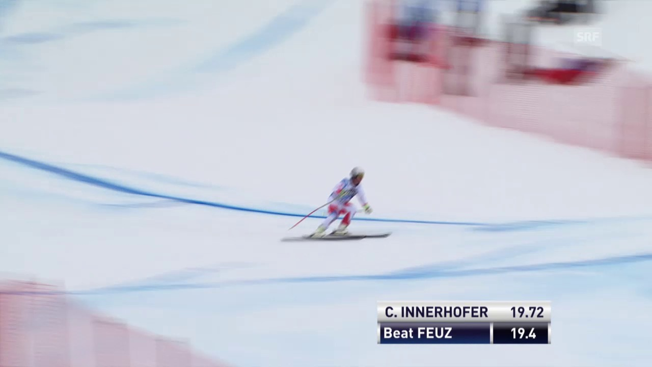 Beat Feuz verliert an der Minschkante viel Zeit