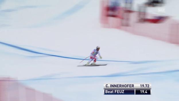 Video «Beat Feuz verliert an der Minschkante viel Zeit» abspielen