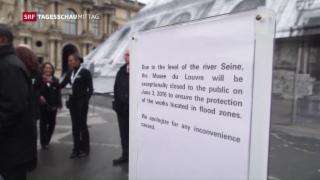 Video «Louvre wegen Hochwasser geschlossen» abspielen