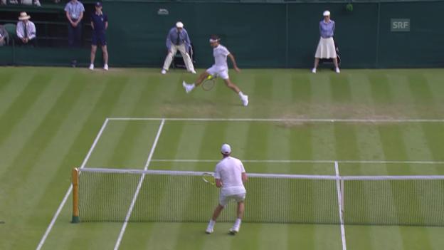 Video «Tennis: Wimbledon, Federer - Querrey, Zauberschlag» abspielen