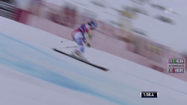 Video «Ski: Riesenslalom Sölden, Michelle Gisins 2. Lauf» abspielen
