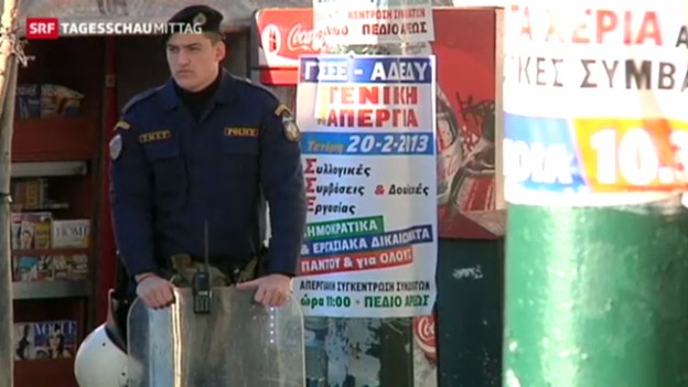 Video «Andauernde Streiks in Griechenland» abspielen