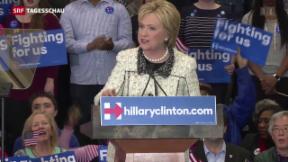 Video «Clinton ist wieder Favoritin bei den Demokraten» abspielen
