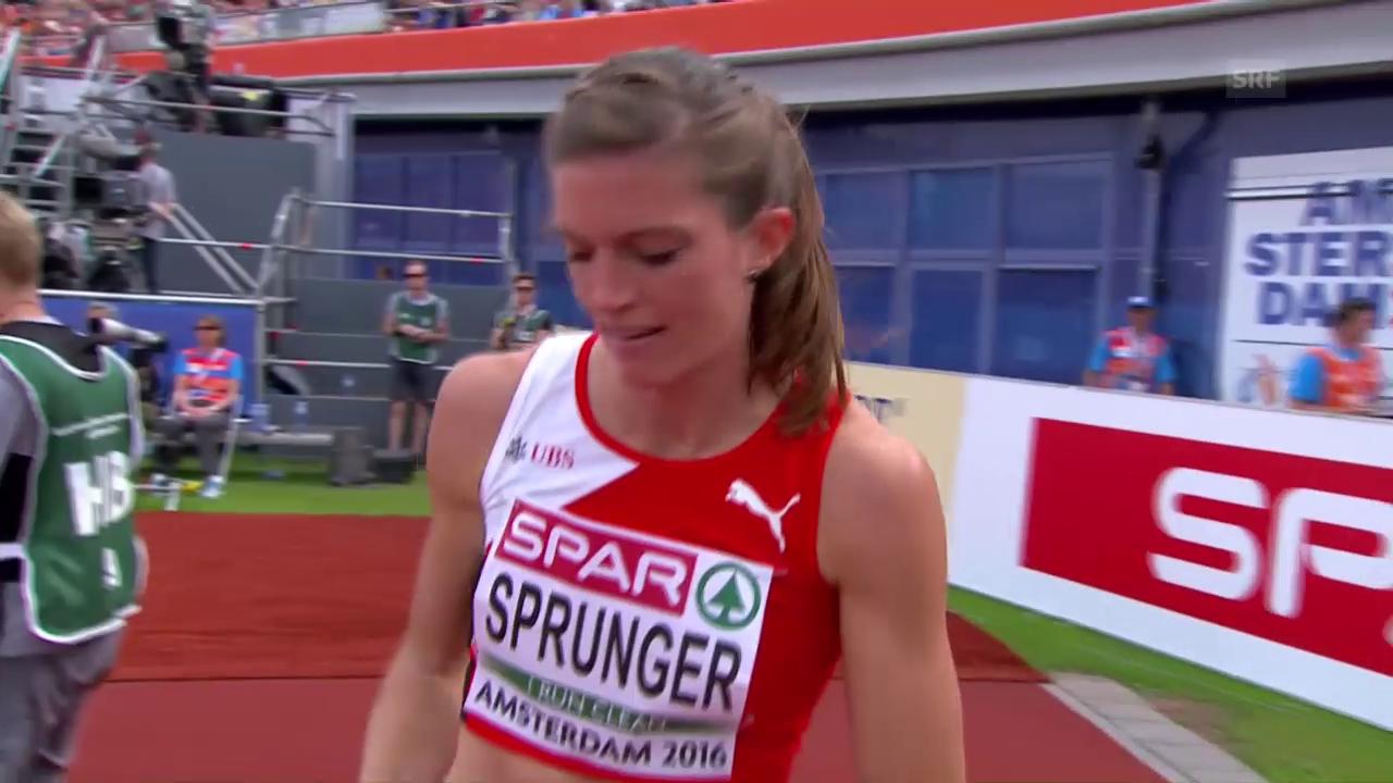 So lief Léa Sprunger zu Hürden-Bronze