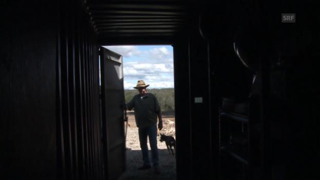 Video «Urs Wälterlin zeigt Sven Furrer seinen Feuerbunker» abspielen