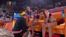 Video «Schrecksekunde: Heidrich am Knie getroffen» abspielen
