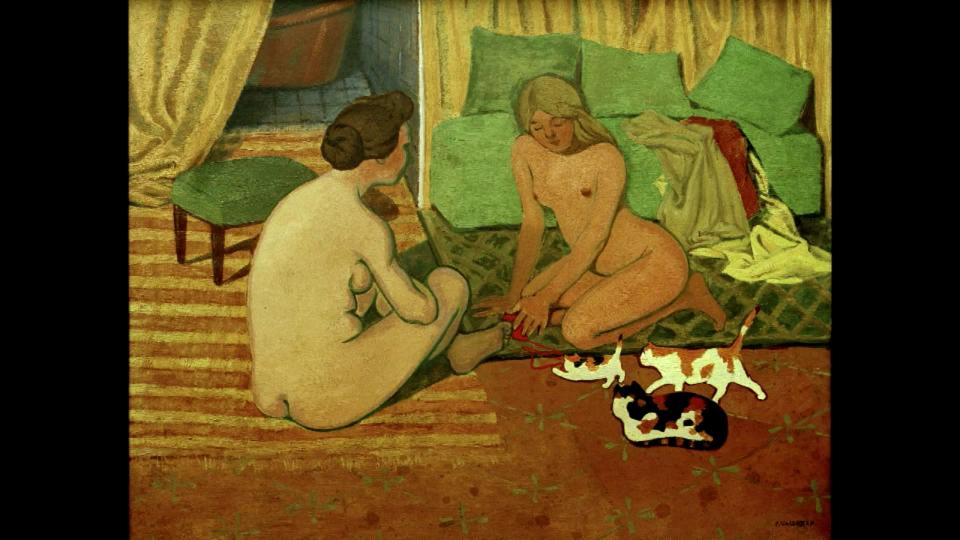 «Femmes nues aux chats» von Félix Vallotton