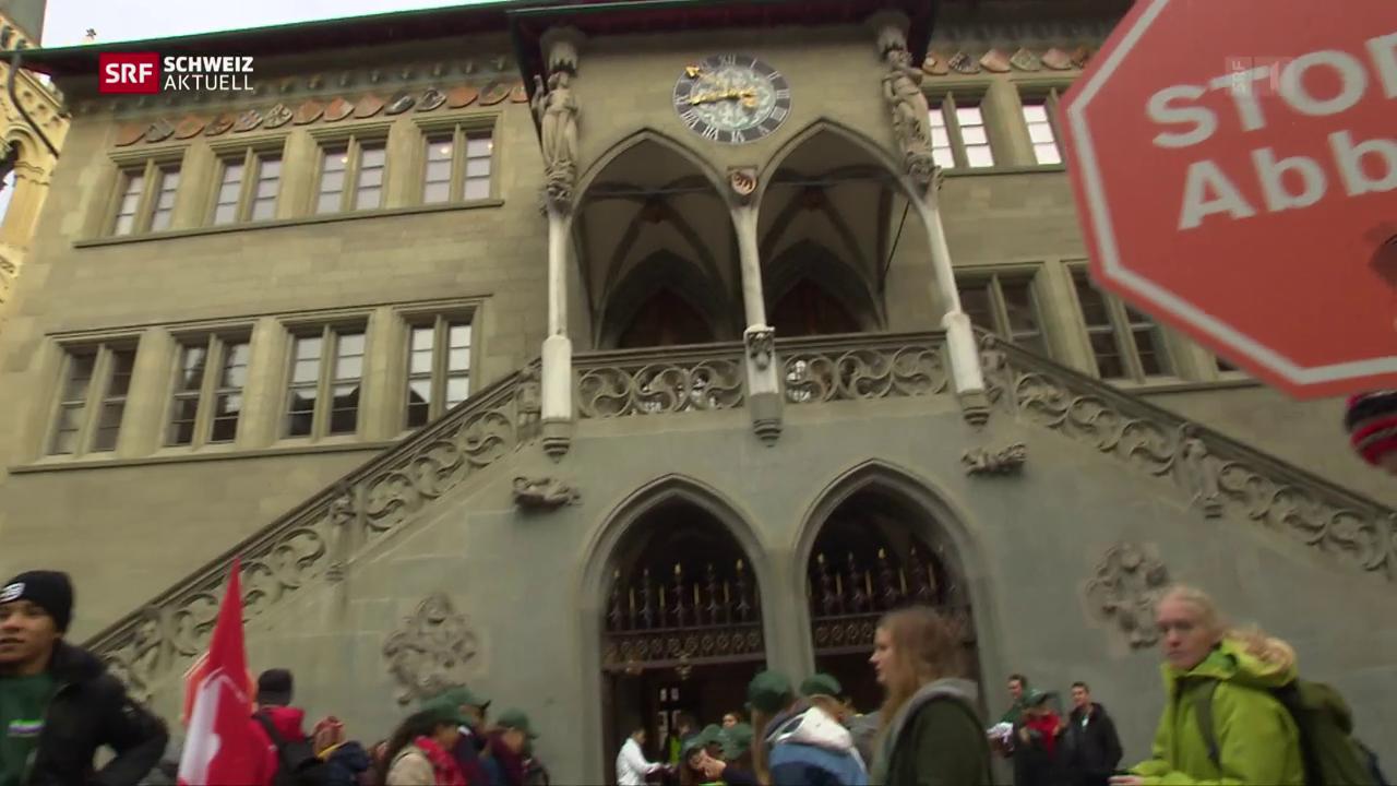 Spardebatte in Bern