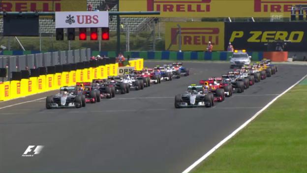 Video «Der Start in Ungarn: Ricciardo ärgert die Silberpfeile» abspielen