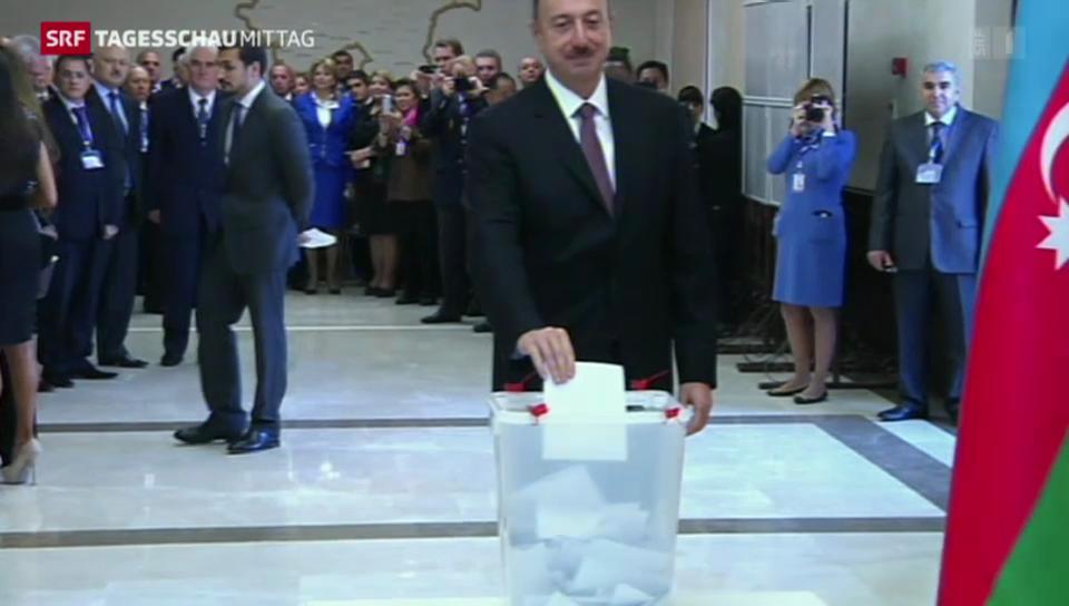 Wahlen in Aserbaidschan - Amtsinhaber bestätigt.