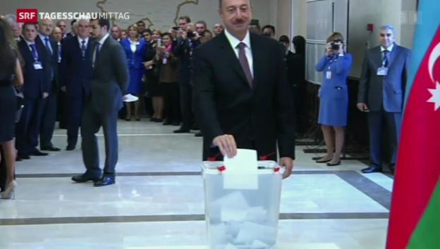 Video «Wahlen in Aserbaidschan - Amtsinhaber bestätigt.» abspielen