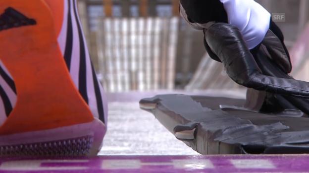 Video «Skeleton: 1. Lauf Gilardoni (sotschi direkt, 13.2.2014)» abspielen