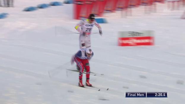 Video «Langlauf: Sprint in Östersund, Final Männer» abspielen