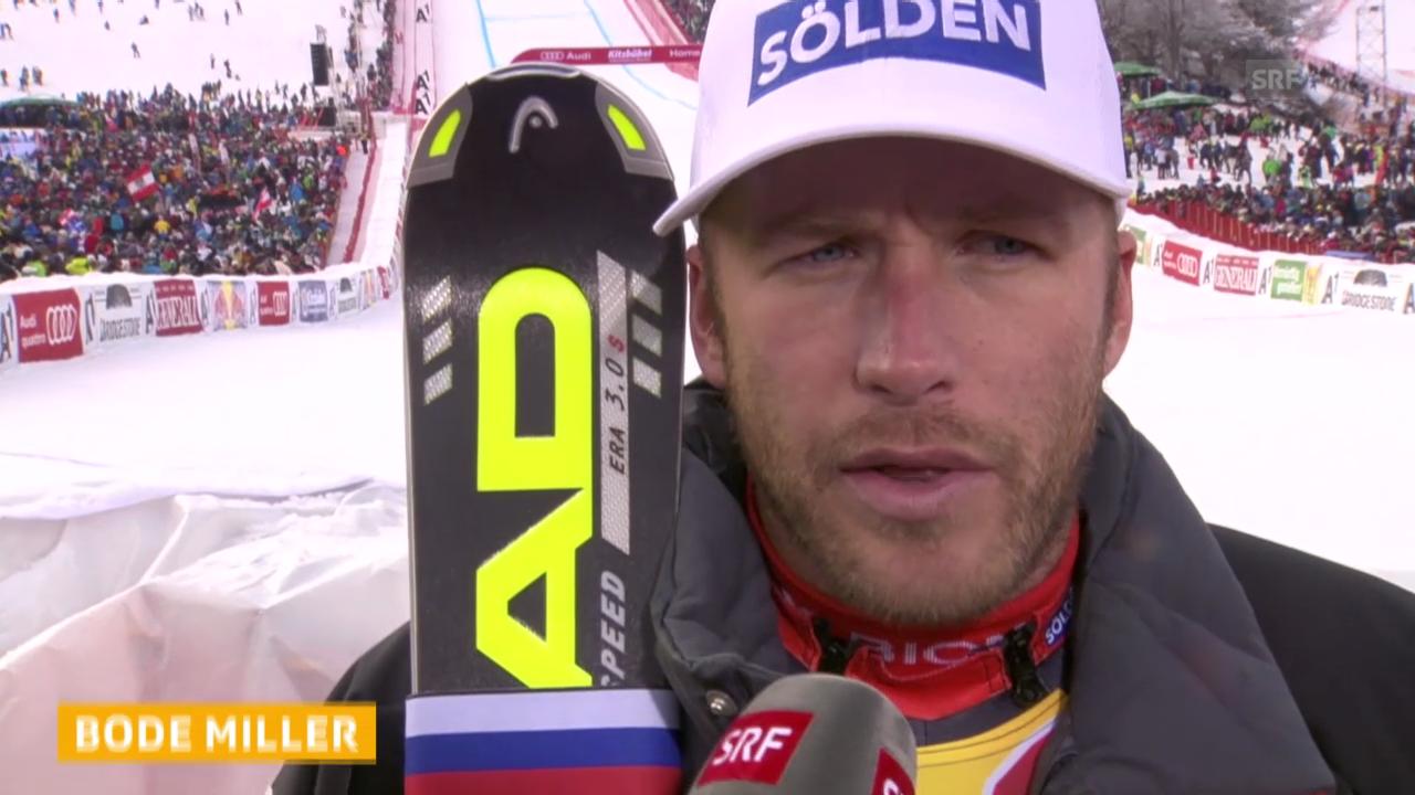 Ski: Abfahrt Kitzbühel 2014, Interview mit Bode Miller