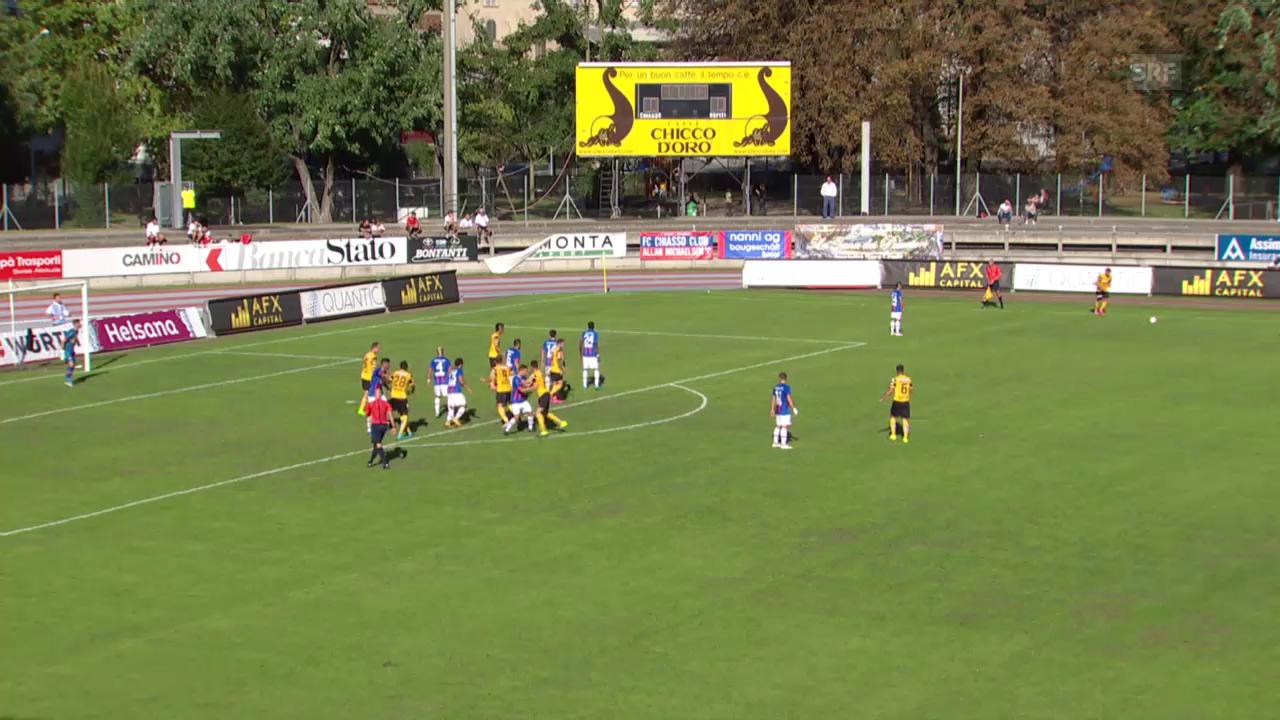 Fussball: Schweizer Cup, 2. Runde, Chiasso-YB, 1:0 für YB