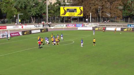 Video «Fussball: Schweizer Cup, 2. Runde, Chiasso-YB, 1:0 für YB» abspielen