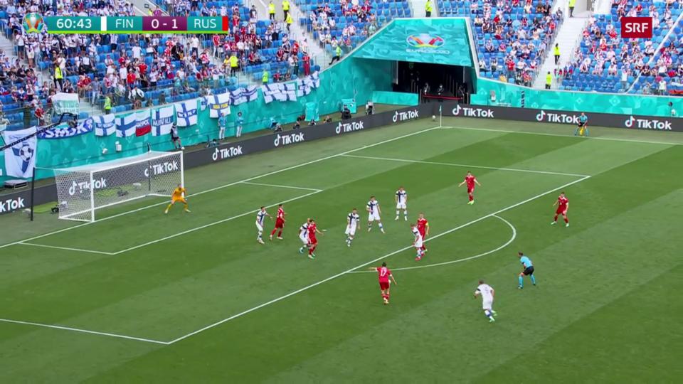 Puncts culminants da la partida Russia – Finlanda
