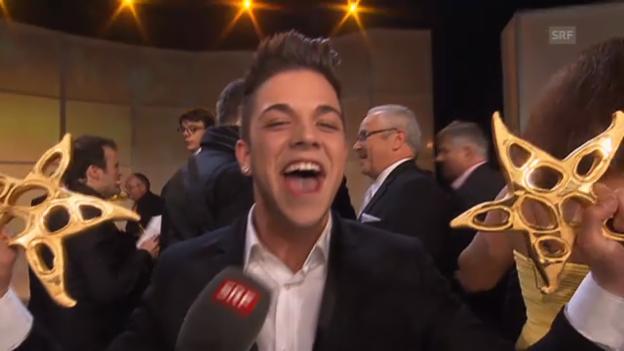 Video «Luca Hänni wird Publikumsliebling» abspielen