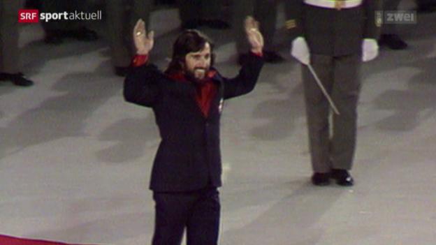 Video «Heini Hemmi blickt auf die Olympischen Winterspiele in Innsbruck 1976 zurück» abspielen