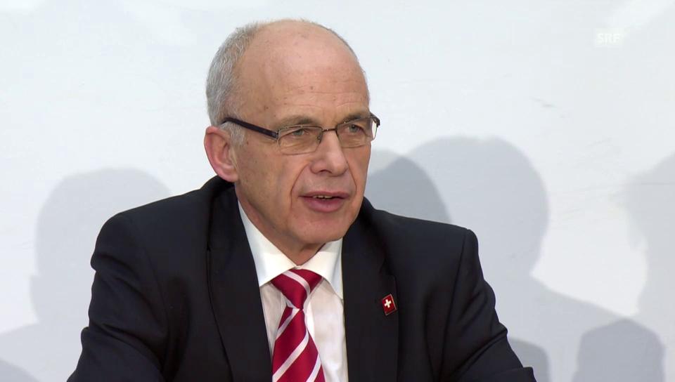 Bundesrat Maurer: «Ein vernünftiger, pragmatischer Schritt.»