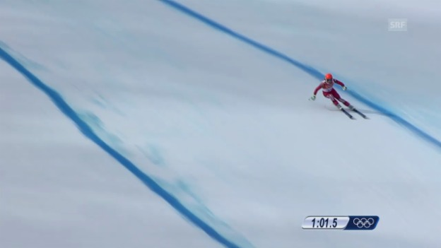 Video «Sotschi: Ski, Abfahrt Männer, Fahrt von Küng» abspielen