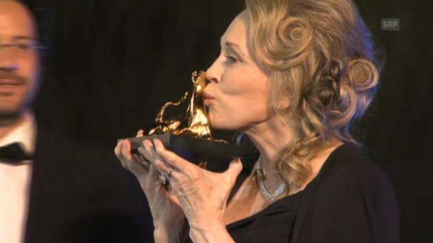 Video «Faye Dunaway in Locarno ausgezeichnet» abspielen