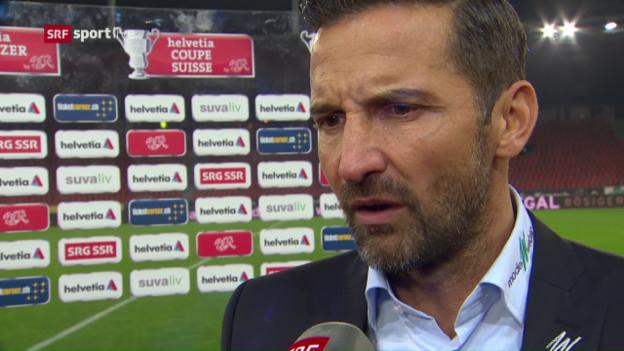 Video «Zinnbauer: «Haben 2 dumme Tore kassiert»» abspielen