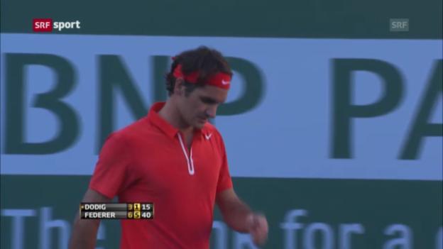 Video «Tennis: Federer und Wawrinka im Achtelfinal von Indian Wells («sportaktuell»)» abspielen