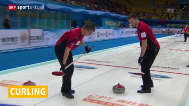 Video «Curling: Das Schweizer Männer-Team verliert zum WM-Start» abspielen