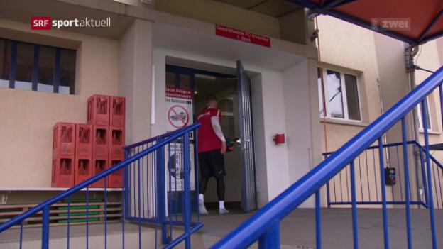 Video «Winterthur-Keeper Minder vor dem Match gegen Basel» abspielen