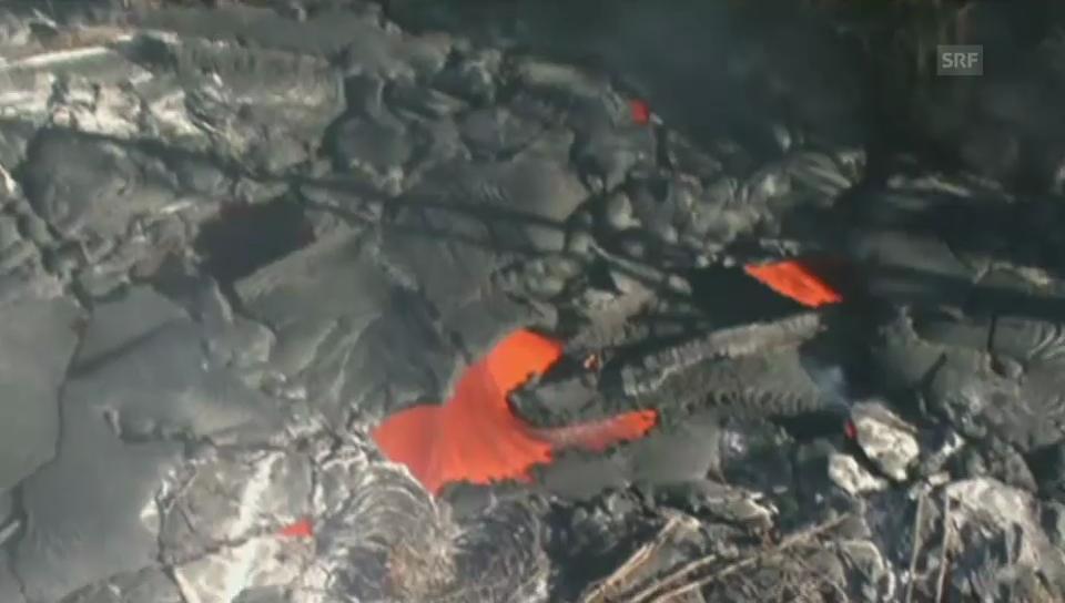 Lava bedroht Orte auf Hawaii