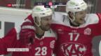 Video «Die ZSC Lions müssen in Klagenfurt unten durch» abspielen