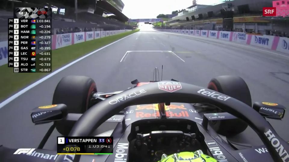 Verstappen va per la pole position
