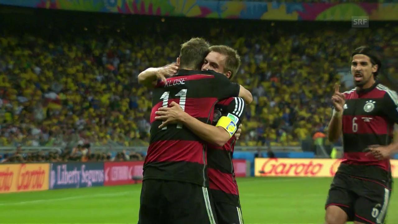 Deutschlands 7:1-Gala gegen Gastgeber Brasilien