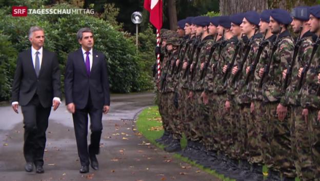 Video «Bulgariens Staatschef in der Schweiz» abspielen