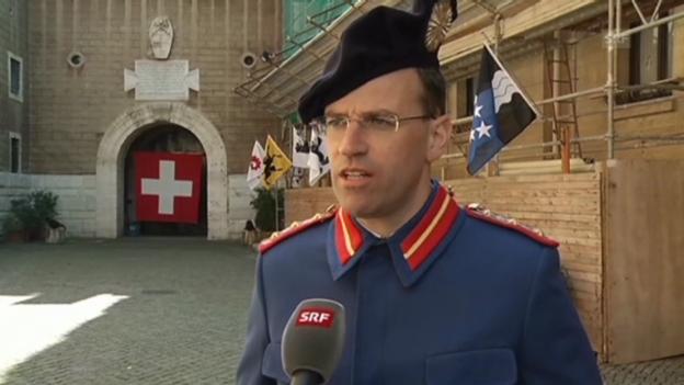 Video «Daniel Arnig über Wache der Schweizergarde» abspielen
