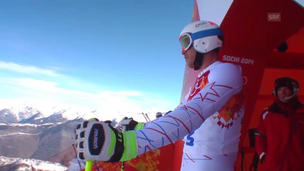 Video «Ski, Männer-Abfahrt, Training, Fahrt Miller» abspielen