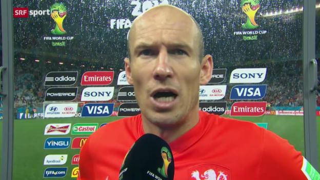 Video «FIFA WM 2014: Interview mit Arjen Robben» abspielen
