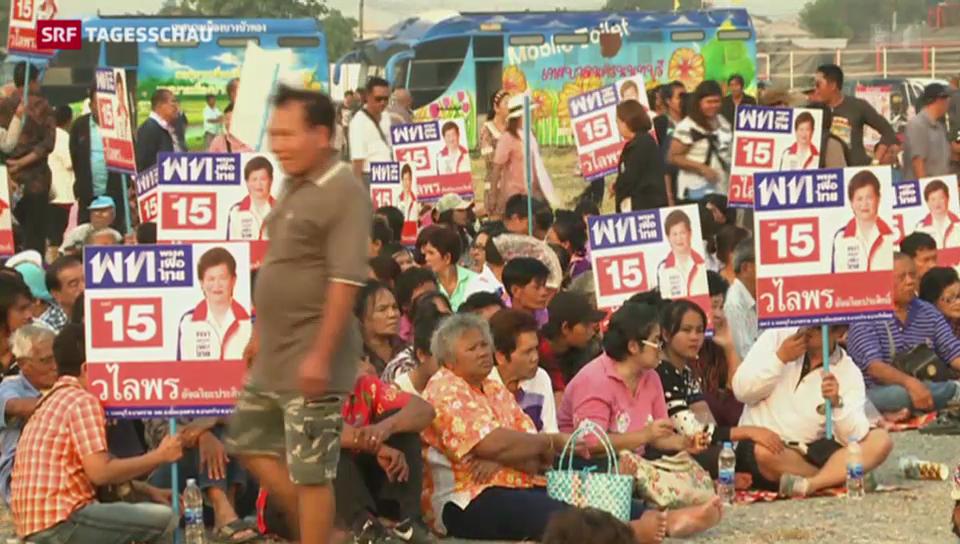 Thailändische Proteste trotz Wahlen