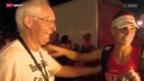 Video «Triathlon: Vater Steffen begleitet seine Tochter» abspielen