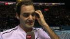 Video «Federer übersteht in Basel die 1. Runde problemlos» abspielen