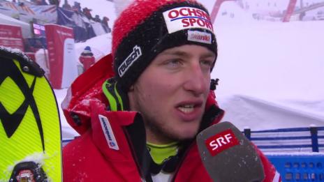 Video «Ski-WM Vail/Beaver Creek, SL Männer, Interview Justin Murisier» abspielen