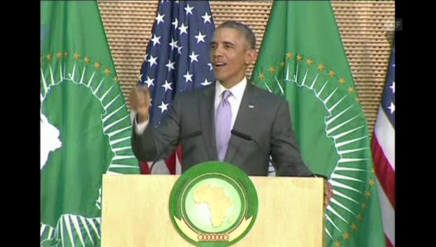 Video «Obamas Aufruf an die Führer der AU (englisch)» abspielen
