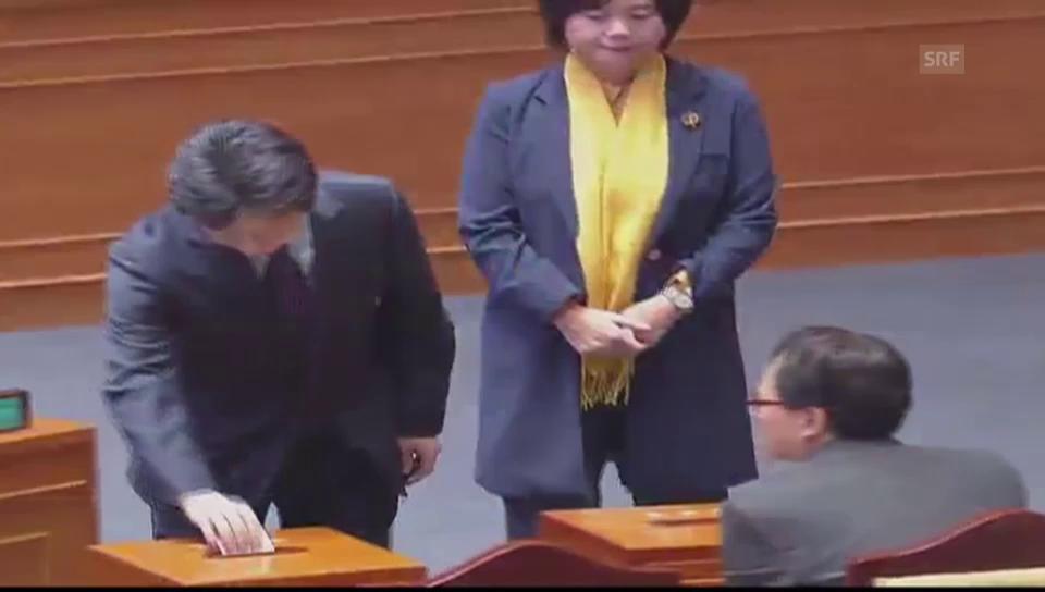 Amtsenthebungs abstimmung im Parlament