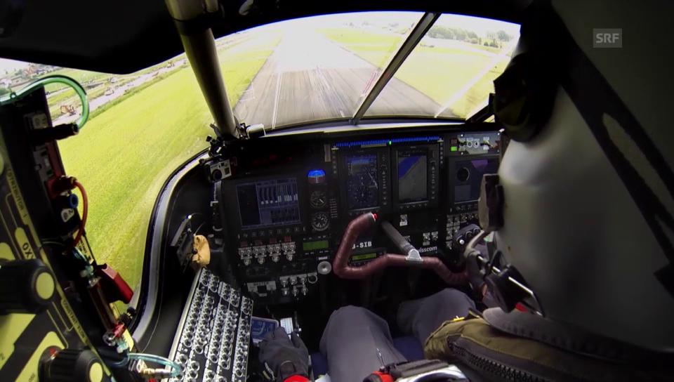 Die Maschine im Testflug