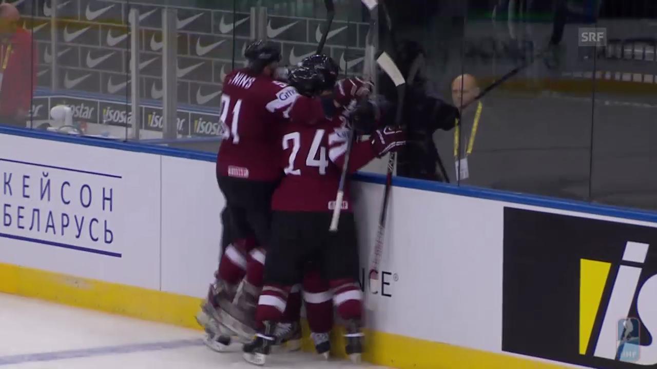 Eishockey: WM, Lettland - USA, Tore des 3. Drittels