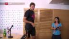 Video «Wawrinka und Nadal vor dem Start in Paris» abspielen